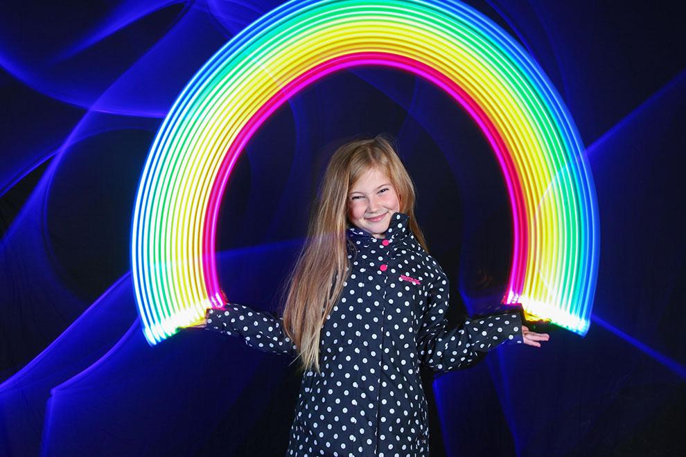 Light Painting Photo Booth Rainbows hearts Sola Light Bombing