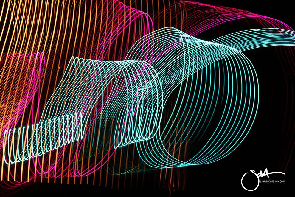 corporate Art Bespoke Abstract Art Light Light Art blue pink gold swirls modern art Light Painting