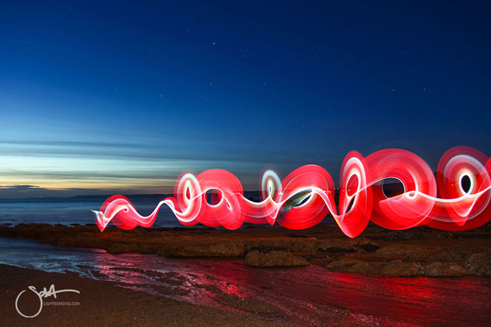 Light Graffiti and Light Painting Photographer Sola