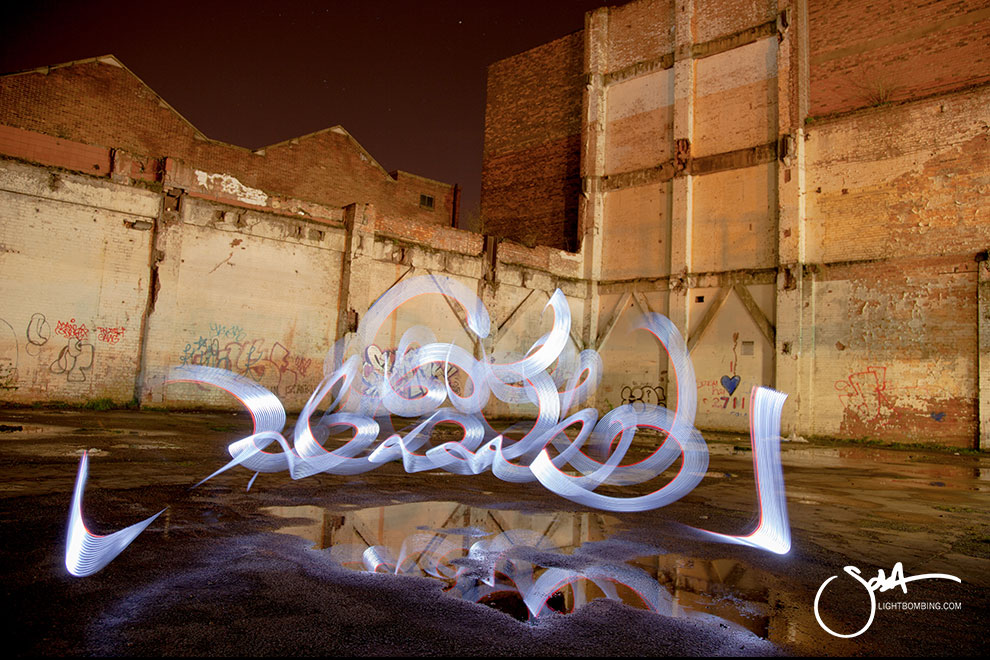 Light Graffiti Light Painting Sola Master Pixelstick light graffiti in urban city