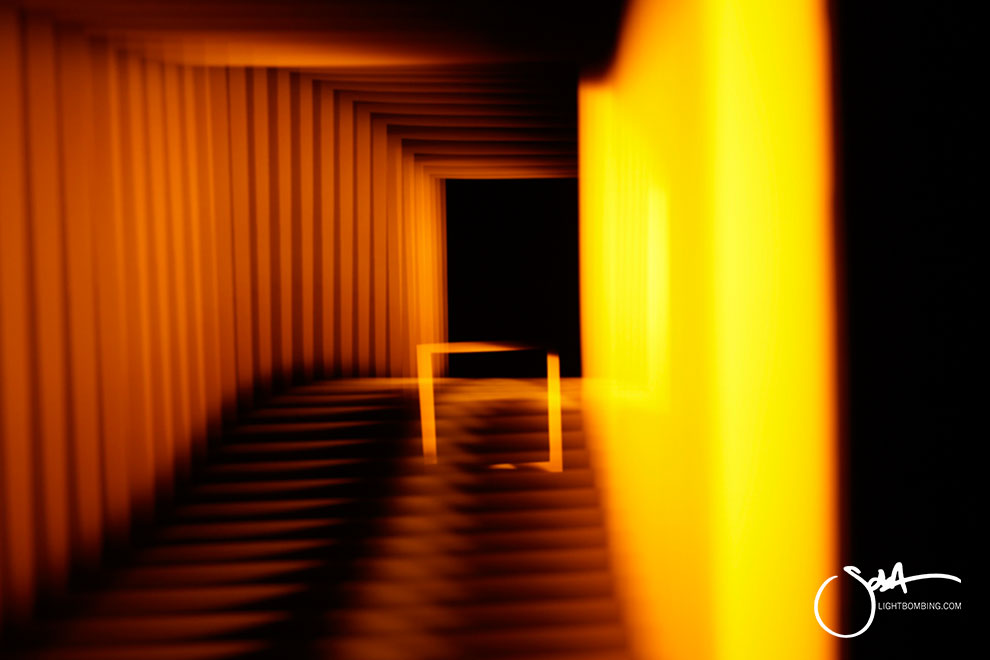 abstract Light Art Man Ray Sola Light Painting gold squares