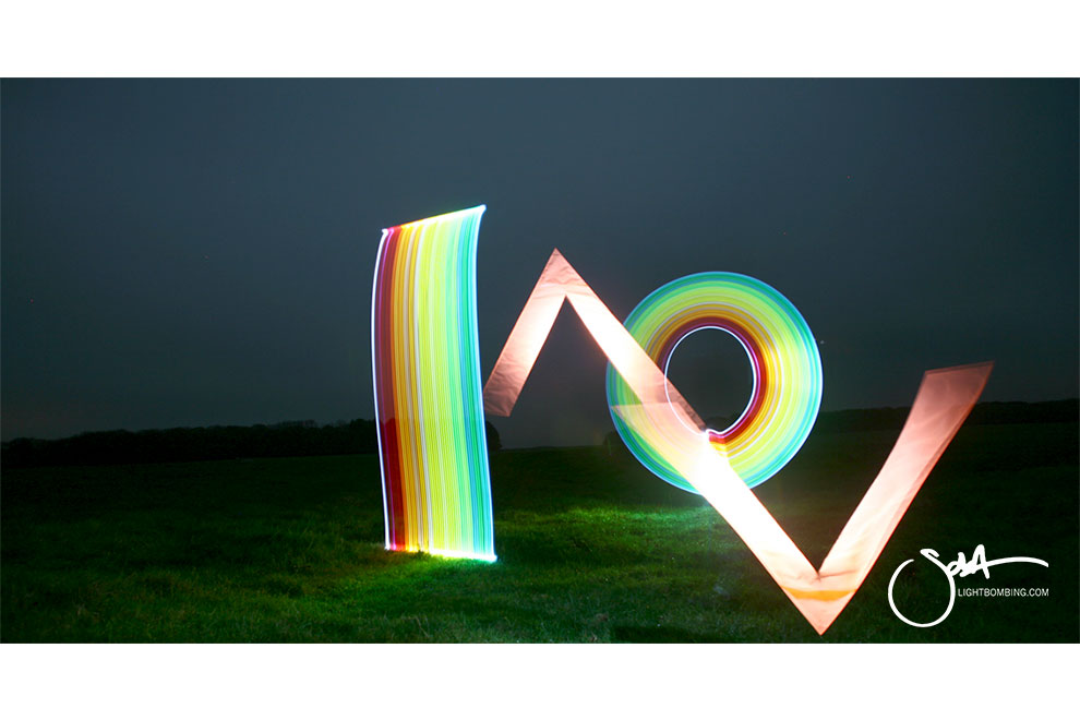 Rainbow of light Light Artist sola Stonehenge