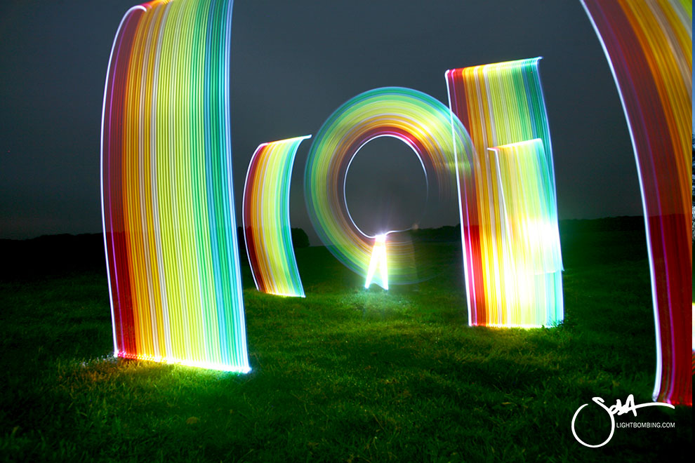 rainbow pillars of light Rainbow of light Light Artist sola Stonehenge