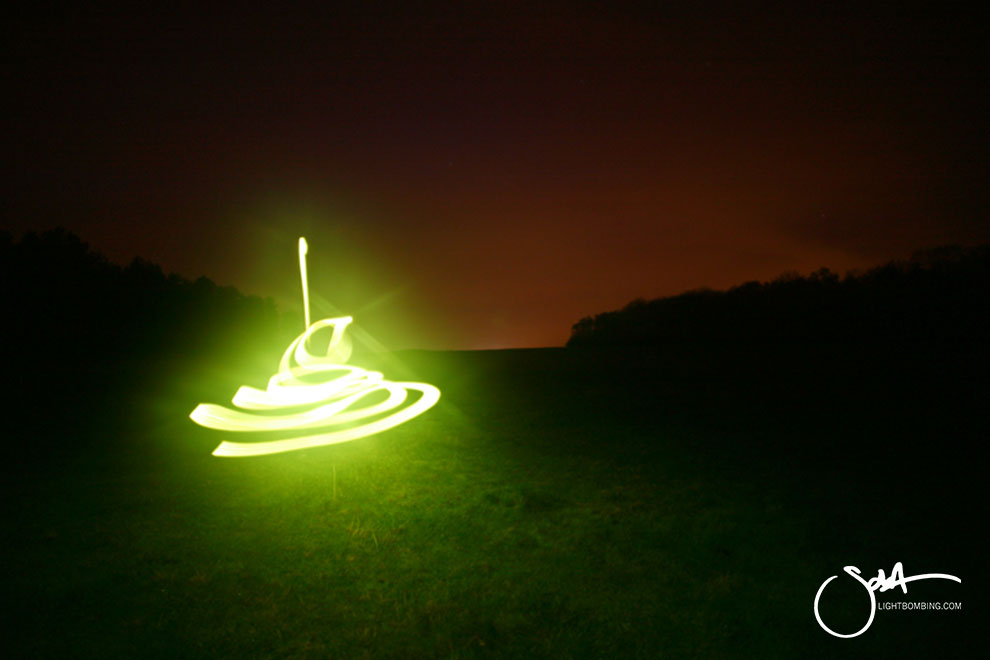 Light Artist sola Stonehenge Cursus beacon of light