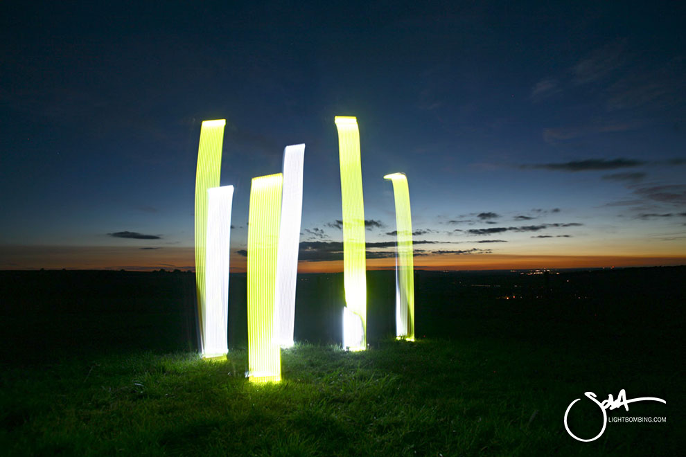 Light Artist sola Light painting countryside at the roll right Stones 5