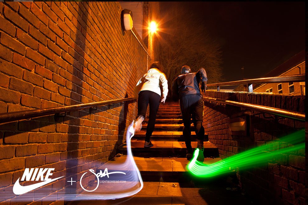 Running in London at night city Nike advert