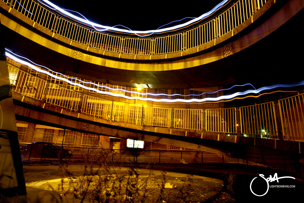 Light Graffiti Urban Birmingham City by Sola light bombing
