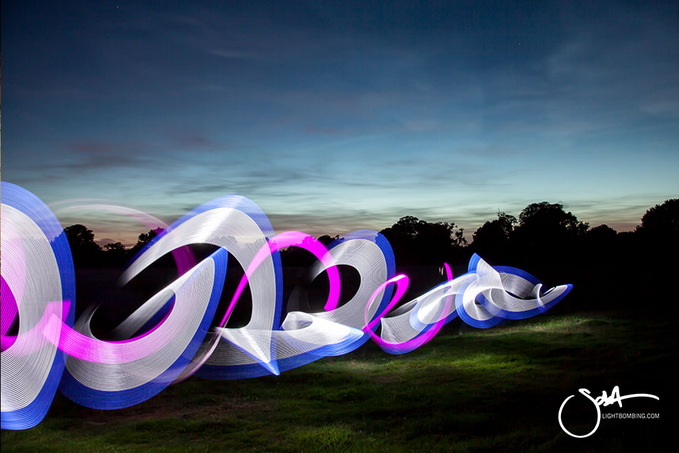 Light Painting in country field Shakespeare country