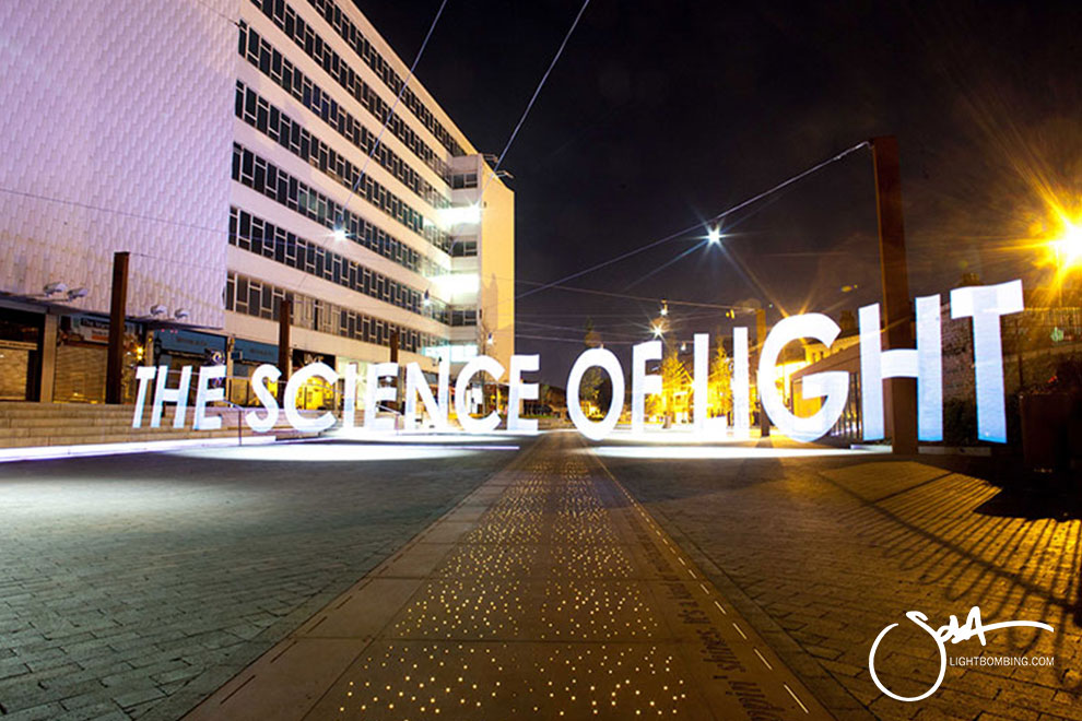 science communications by artist Sola Pixelstick