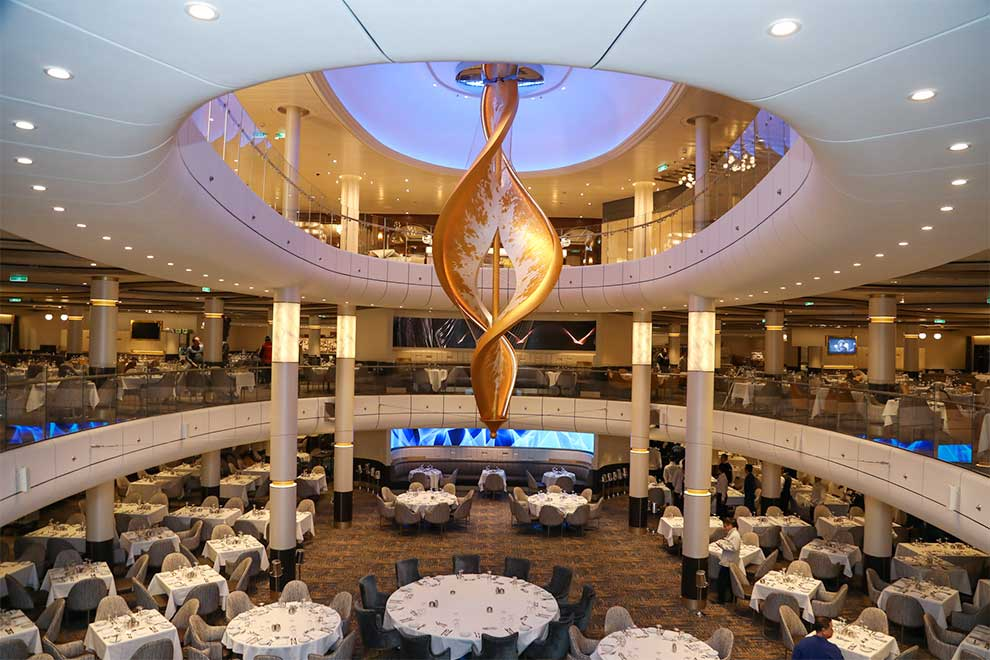 Light Art Sculpture on a Royal Caribbean Cruise Ship by artist Peter Medlicott / sola.